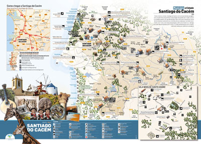 Santiago Do Cacem Chamber Launches New Tourist Map Opcao Turismo