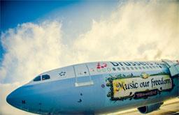 Brussels Airlines com muitos voos com destino ao Tomorrowland