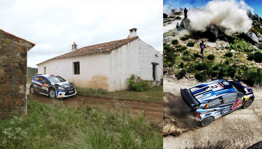 Boa imagem dos adeptos do Rally de Portugal