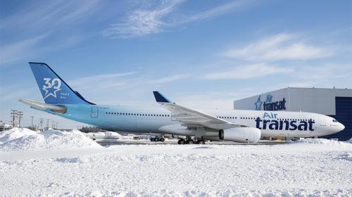 Air Transat lança avião comemorativo do 30º aniversário da companhia