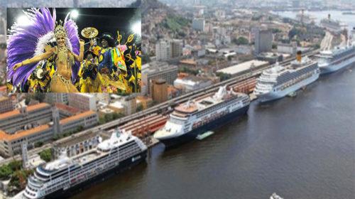 Carnaval: turismo de cruzeiro movimenta 18 milhões de dólares no Rio