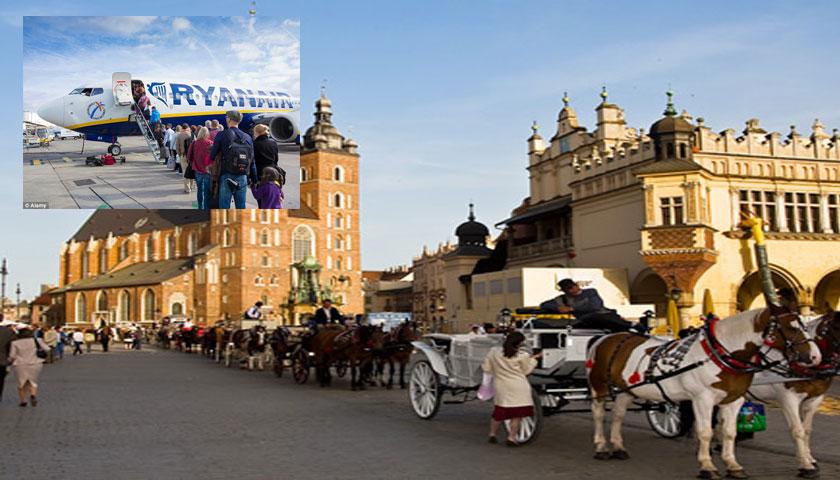 Ryanair lança Lisboa-Cracóvia em Outubro