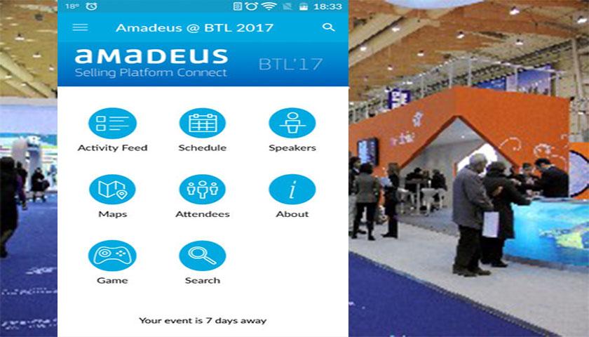 Amadeus com app para a BTL