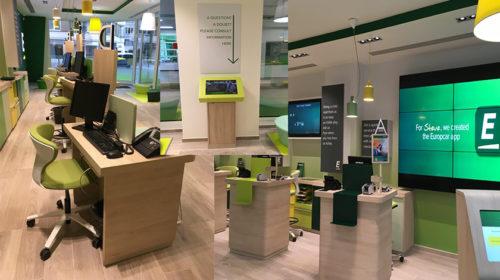 Europcar apresentou nova estação modelo em Bruxelas