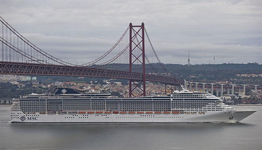 MSC Cruzeiros com partidas e chegadas a Lisboa em 2018