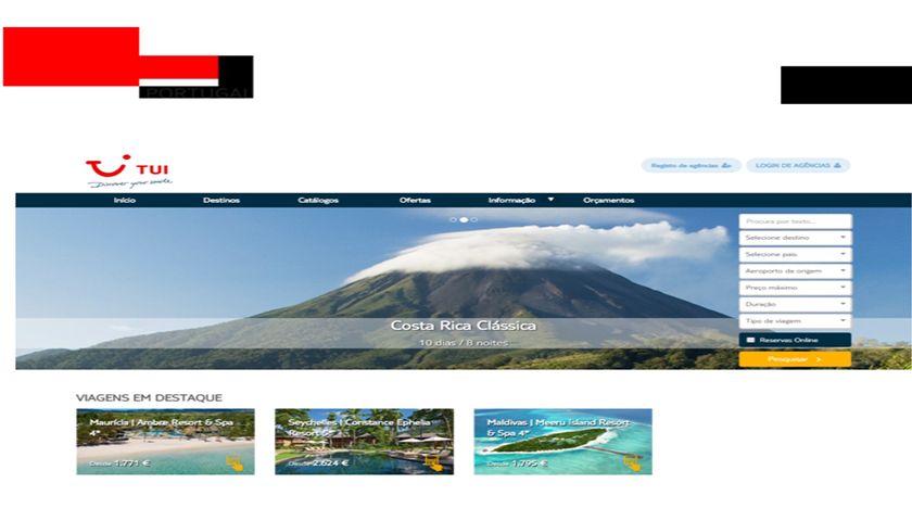 TUI Portugal tem novo website