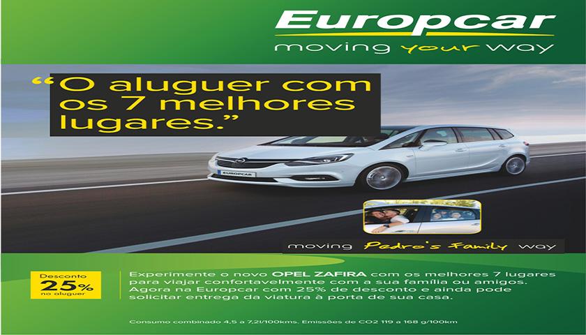 Europcar apresenta o novo Opel Zafira de 7 lugares