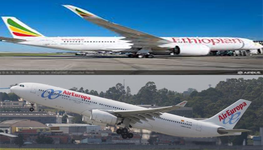 Ethiopian Airlines em codeshare com a Air Europa
