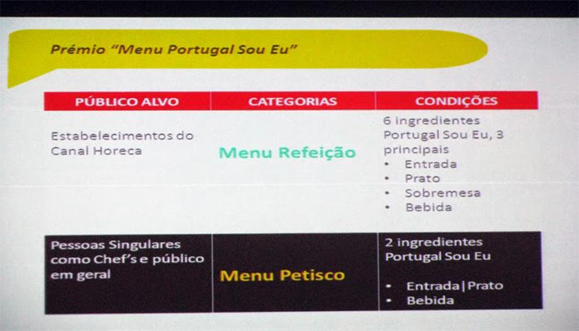 """Já abriram as inscrições para Prémio """"Menu Portugal Sou Eu"""""""