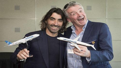 Ryanair e Air Europa formam aliança para voos de longo curso