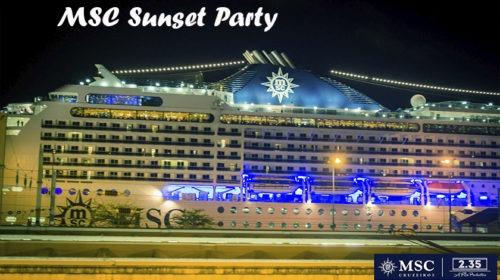 MSC organizou Sunset Party a bordo do Magnifica