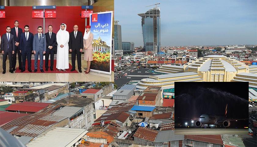 Phnom Penh é o mais recente destino da Emirates