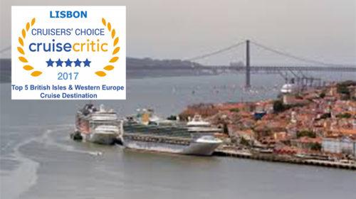 Lisboa no Top 5 dos melhores destinos de cruzeiro
