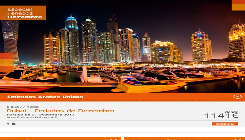 Dubai nos feriados de dezembro é a proposta da Soltrópico