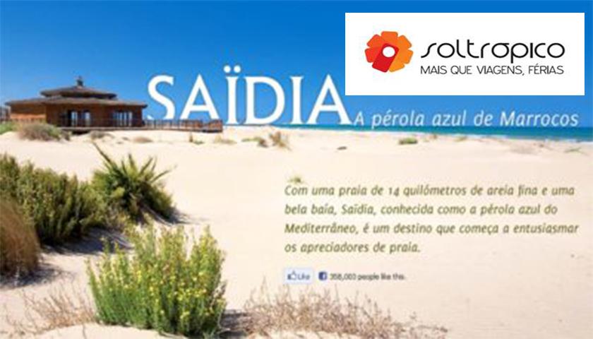 Soltrópico sugere Saïdia para férias