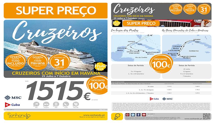 Sonhando com cruzeiros MSC em Havana a preços super
