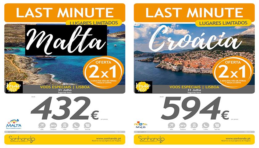 """Sonhando oferece Malte e Dubrovnik em """"Last Minute"""""""