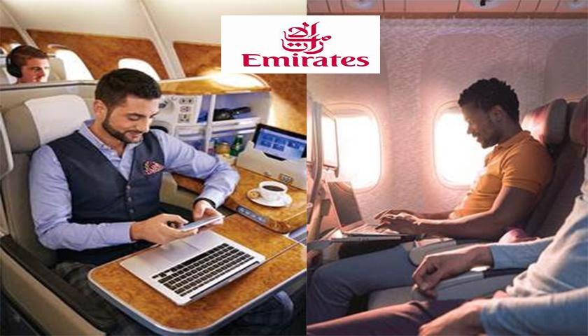 Emirates aumenta a oferta a bordo de Wi-Fi gratuito