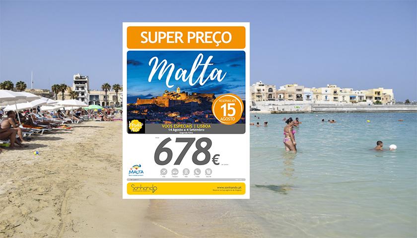 Sonhando propõe férias em Malta