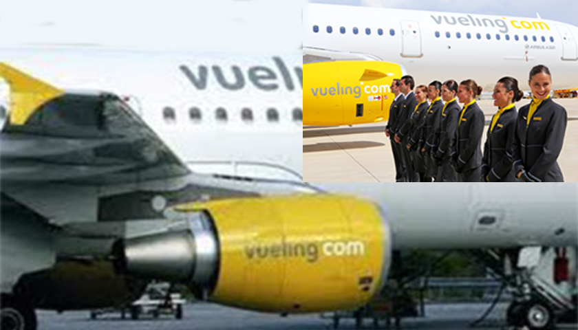 Tripulantes de cabine da Vueling em greve