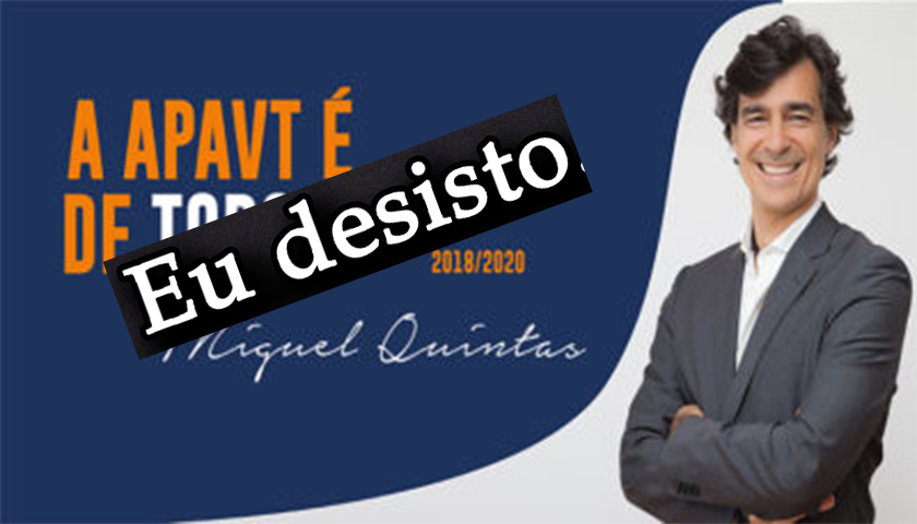Miguel Quintas desiste de candidatura à presidência da APAVT