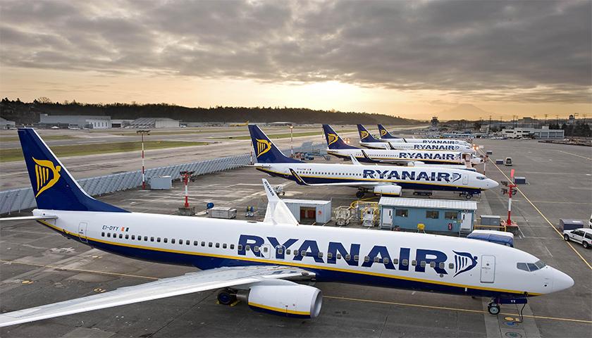 Ryanair aumenta lucros no 3º trimestre fiscal