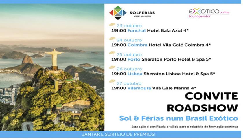 Exoticoonline e Solférias com roadshow sobre o Brasil