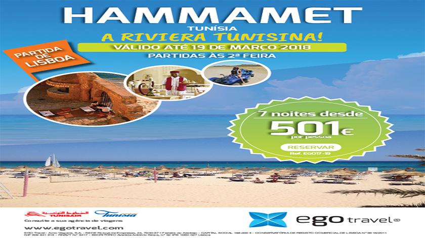 egotravel oferece Hammamet até março 2018