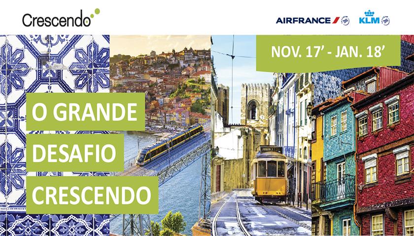 """Air France-KLM lançam """"Desafio Crescendo"""""""