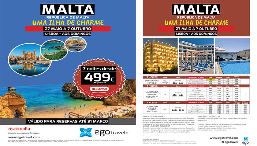 Malta é o novo destino lançado pela Egotravel