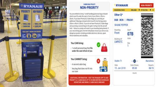 Ryanair com nova política de preços de bagagem