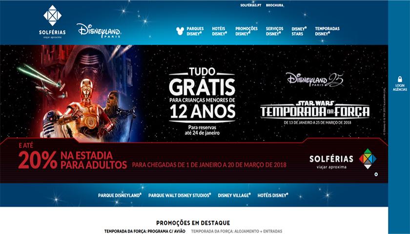 Solférias lança novo sistema de reservas para a Disneyland Paris