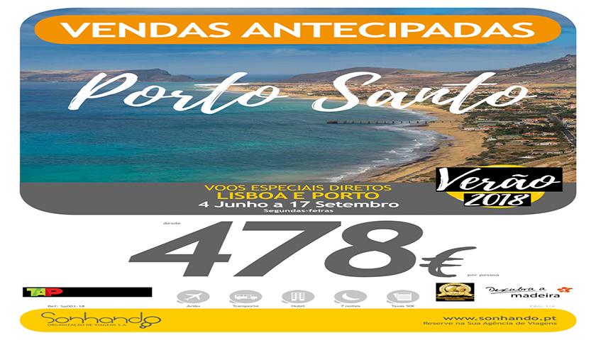 Sonhando com férias de verão em Porto Santo