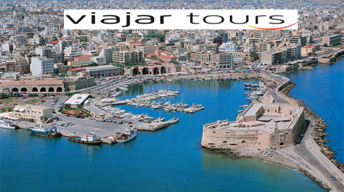Viajar Tours lança programação charter para Creta