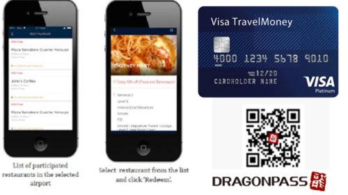 Visa e DragonPass com benefício para os titulares de cartões europeus
