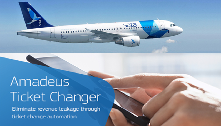 SATA adere ao Amadeus Ticket Changer