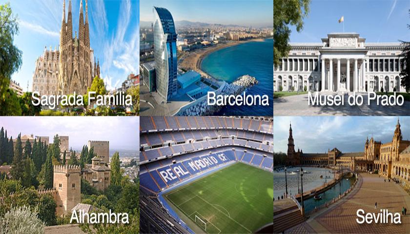 Espanha é o segundo país do mundo a receber mais turistas
