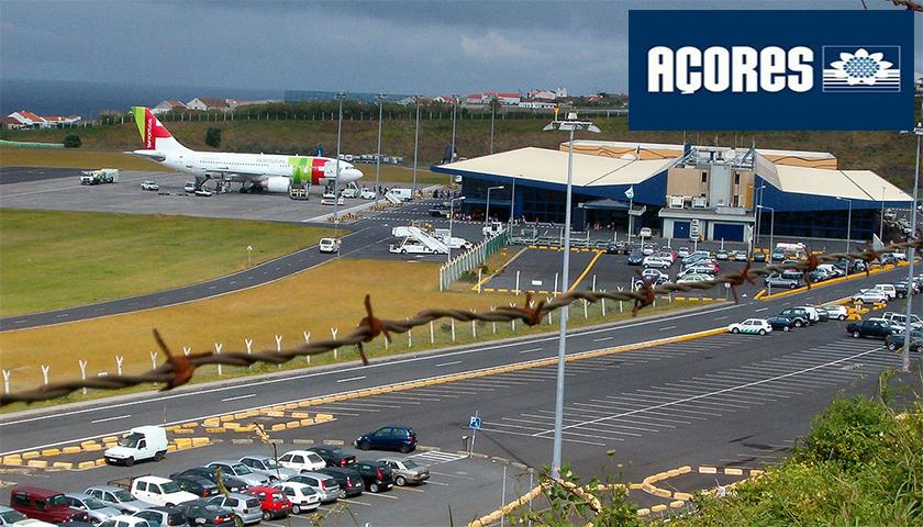 Aeroportos dos Açores com mais passageiros