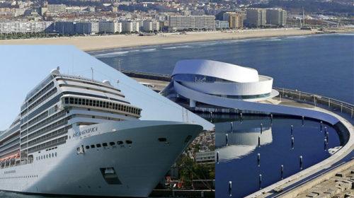 Porto Cruise Terminal com primeiro embarque e desembarque simultâneo